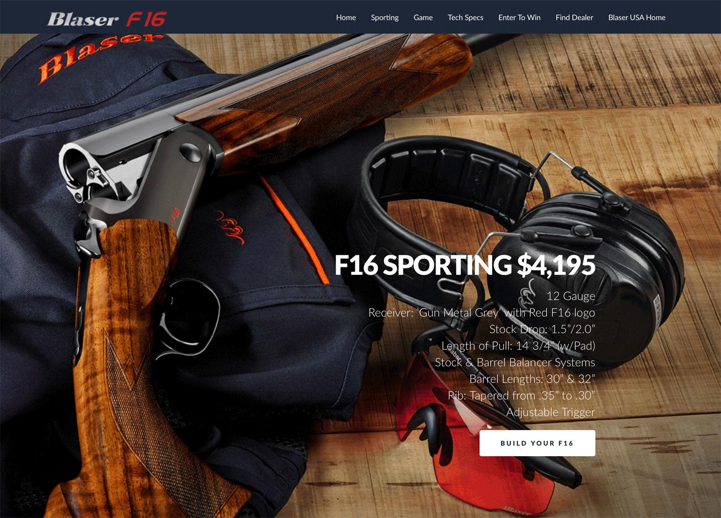 Blaser F16 Website & Launch